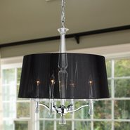 Gatsby 4 light Chrome Finish with Clear Crystal Chandelier