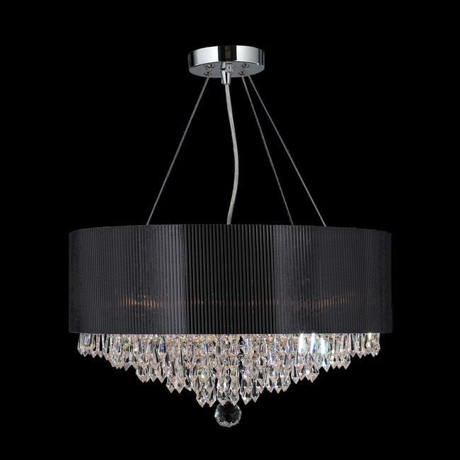 Chandelier With Black Acrylic Drum Shade Previous Next