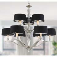 w83138mn34 Gatsby 9 Light Matte Nickel Finish Pendant