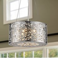 Aramis Collection 7 LED Light Chrome Finish and Clear Crystal Round Chandelier