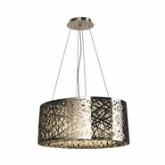 Aramis Collection 8 LED Light Chrome Finish and Clear Crystal Oval chandelier
