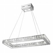 Galaxy LED Chandelier, Chrome Finish, Clear Crystal