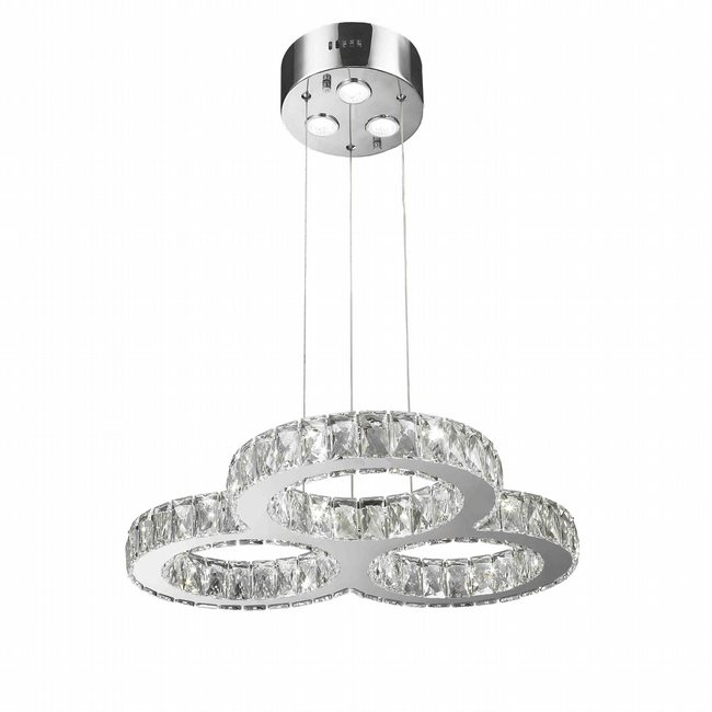 W83149KC24 Galaxy LED Chandelier, 18 Light, Chrome Finish, Clear Crystal