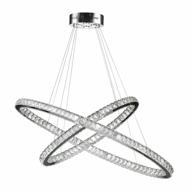 W83151KC48 Galaxy LED Chandelier, 30 Light, Chrome Finish, Clear Crystal