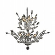W83152C21 Aspen 8 Light Chrome Finish Crystal Tree Two Tier Chandelier