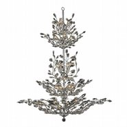 W83152C42 Aspen 26 light Chrome Finish Crystal Tree Four Tier Chandelier