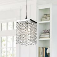 Prism 1 Light Chrome Finish and Clear Crystal Mini Pendant