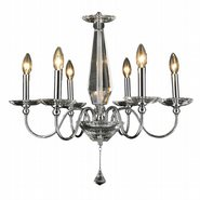 W83160C26 Innsbruck 6 Light Chrome Finish Crystal Chandelier
