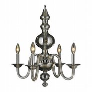 W83170C18-GT Murano Venetian Style 4 light Blown Glass in Golden Teak Finish