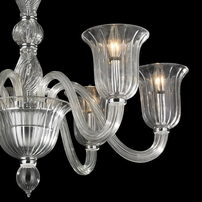 W83173c31 cl murano venetian style 6 light blown glass in clear w83173c31 cl murano venetian style 6 light blown glass in clear finish chandelier aloadofball Image collections