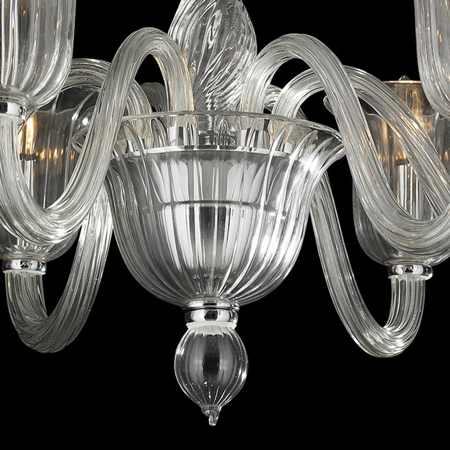 W83173c31 cl murano venetian style 6 light blown glass in clear previous next aloadofball Choice Image