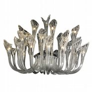 Symphony 32 Light Chrome Finish and Clear Crystal Fluted Chandelier