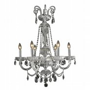 W83177C25-CL Carnivale 6 Light Chrome Finish and Clear Crystal Chandelier