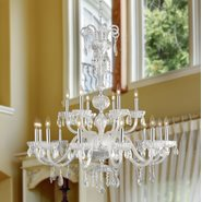 W83178C36-CL Carnivale 18 Light Chrome Finish and Clear Crystal Chandelier Two 2 Tier