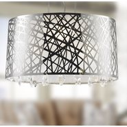 W83181C21 Julie Chandelier, Clear Crystal , Chrome Finish , 4 Light
