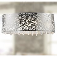 W83183C35 Julie Chandelier, Clear Crystal , Chrome Finish , 8 Light