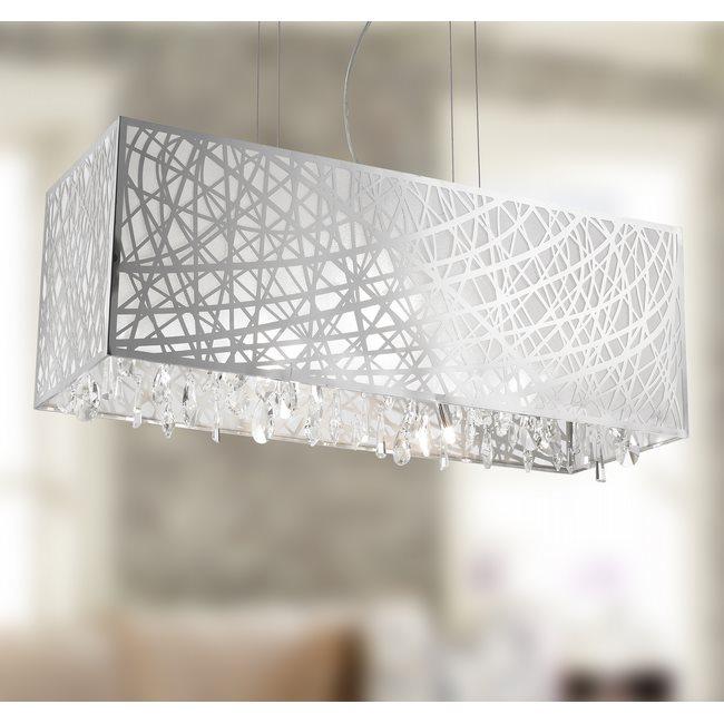 W83187C34 Julie Chandelier, Clear Crystal , Chrome Finish , 8 Light