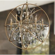 Armillary 13 Light Matte Gold Finish Pendant