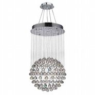 W83208C20 Saturn 7 light Chrome Finish with Clear Crystal Chandelier
