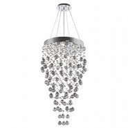 W83214C24 Icicle 9 light Chrome Finish with Clear Crystal Chandelier