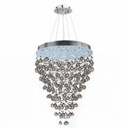 W83215C28 Icicle 12 light Chrome Finish with Clear Crystal Chandelier