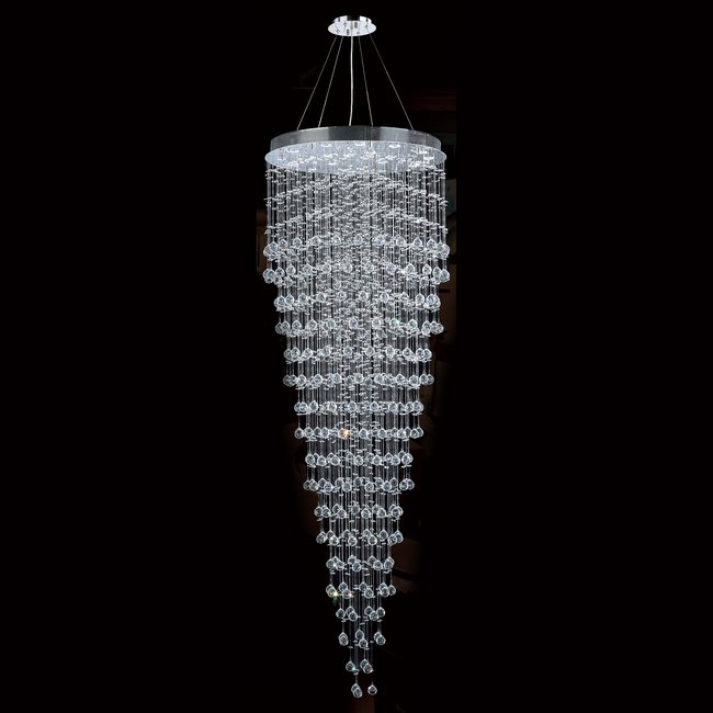 W83218c32 icicle 16 light chrome finish and clear crystal chandelier aloadofball Gallery