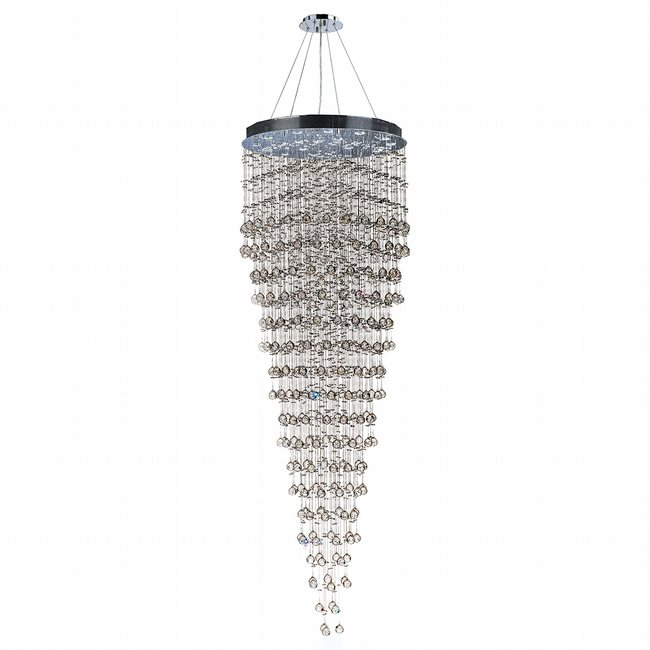 W83218C32 Icicle 16 Light Chrome Finish and Clear Crystal Chandelier
