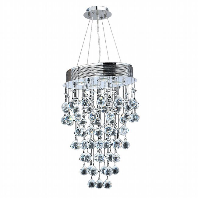 W83226C16 Icicle 4 Light Chrome Finish with Clear Crystal Chandelier