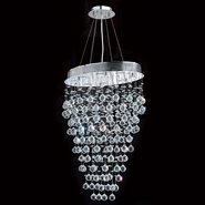 W83228C24 Icicle 8 Light Chrome Finish with Clear Crystal Chandelier