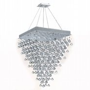 W83239C28 Icicle 10 Light Chrome Finish with Clear Crystal Chandelier