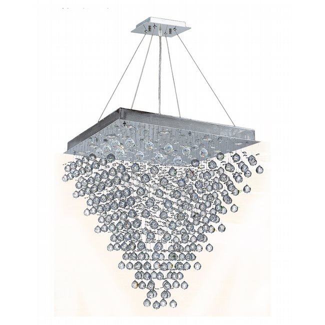 W83241C32 Icicle 16 Light Chrome Finish with Clear Crystal Chandelier
