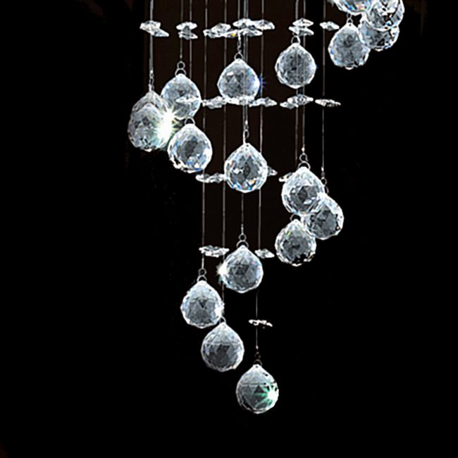 W83246c16 helix 5 light chrome finish and clear crystal spiral previous next aloadofball Images