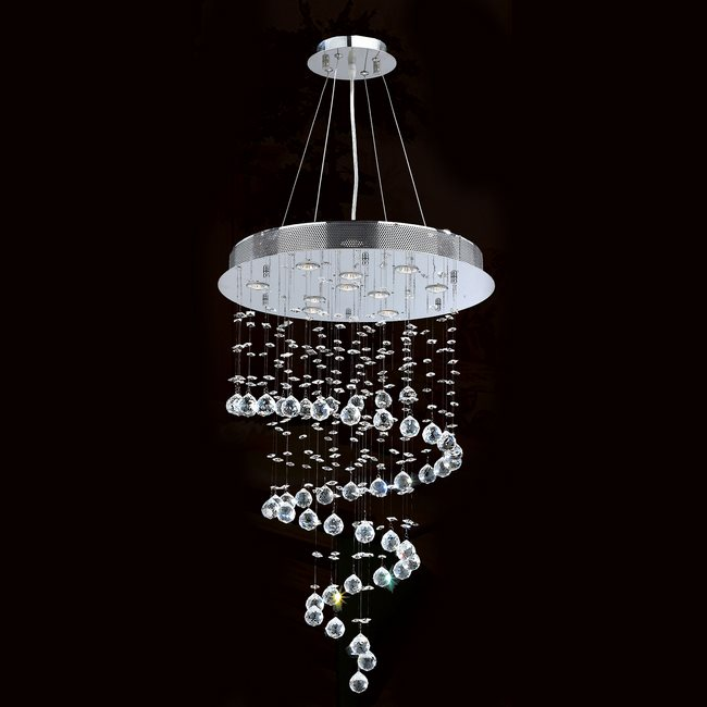 W83248c24 helix 10 light chrome finish with clear crystal chandelier aloadofball Choice Image