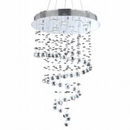 W83248C24 Helix 10 light Chrome Finish with Clear Crystal Chandelier