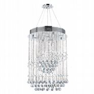 Helix Collection 5 Light Chrome Finish and Clear Crystal Spiral Chandelier
