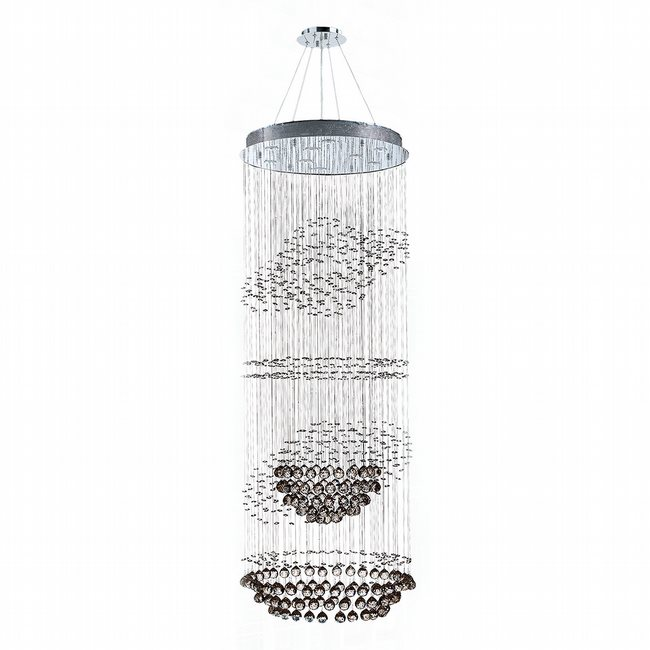 W83255C26 Saturn 9 Light Chrome Finish with Clear Crystal Chandelier