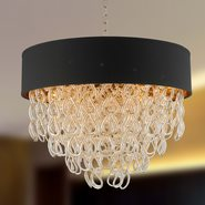 Halo 9 Light Champagne Finish Pendant