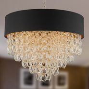 Halo 12 Light Champagne Finish Pendant