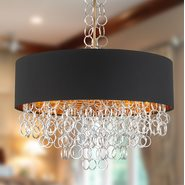 Catena 8 Light Matte Gold Finish Pendant
