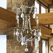 Windsor 3 light Solid Cast Brass in Antique Bronze Finish with Clear Crystal Chandelier