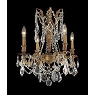 W83303FG17-CL Windsor 4 Light French Gold Finish and Clear Crystal Chandelier