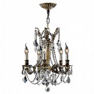 W83304BP18-CL Windsor 5 Light Antique Bronze Finish and Clear Crystal Chandelier