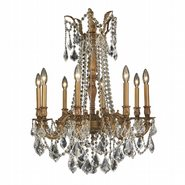 W83306FG24-CL Windsor 8 Light French Gold Finish and Clear Crystal Chandelier