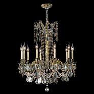 W83308BP28-GT Windsor 10 Light Antique Bronze Finish and Golden Teak Crystal Chandelier