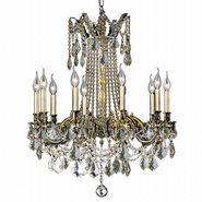 W83308BP28-CL Windsor 10 Light Antique Bronze Finish and Clear Crystal Chandelier