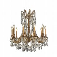 W83308FG28-CL Windsor 10 Light French Gold Finish and Clear Crystal Chandelier