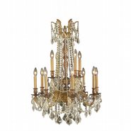 W83309FG24-GT Windsor 12 light French Gold Finish and Clear Crystal Chandelier Two 2 Tier