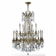 W83310BP28-CL Windsor 15 Light Antique Bronze Finish and Clear Crystal Chandelier Two 2 Tier