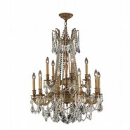 W83310FG28-CL Windsor 15 Light French Gold Finish and Clear Crystal Chandelier Two 2 Tier
