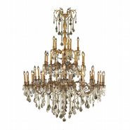 W83312FG54-GT Windsor 45 lights French Gold Finish and French Gold Crystal Chandelier Three 3 Tier